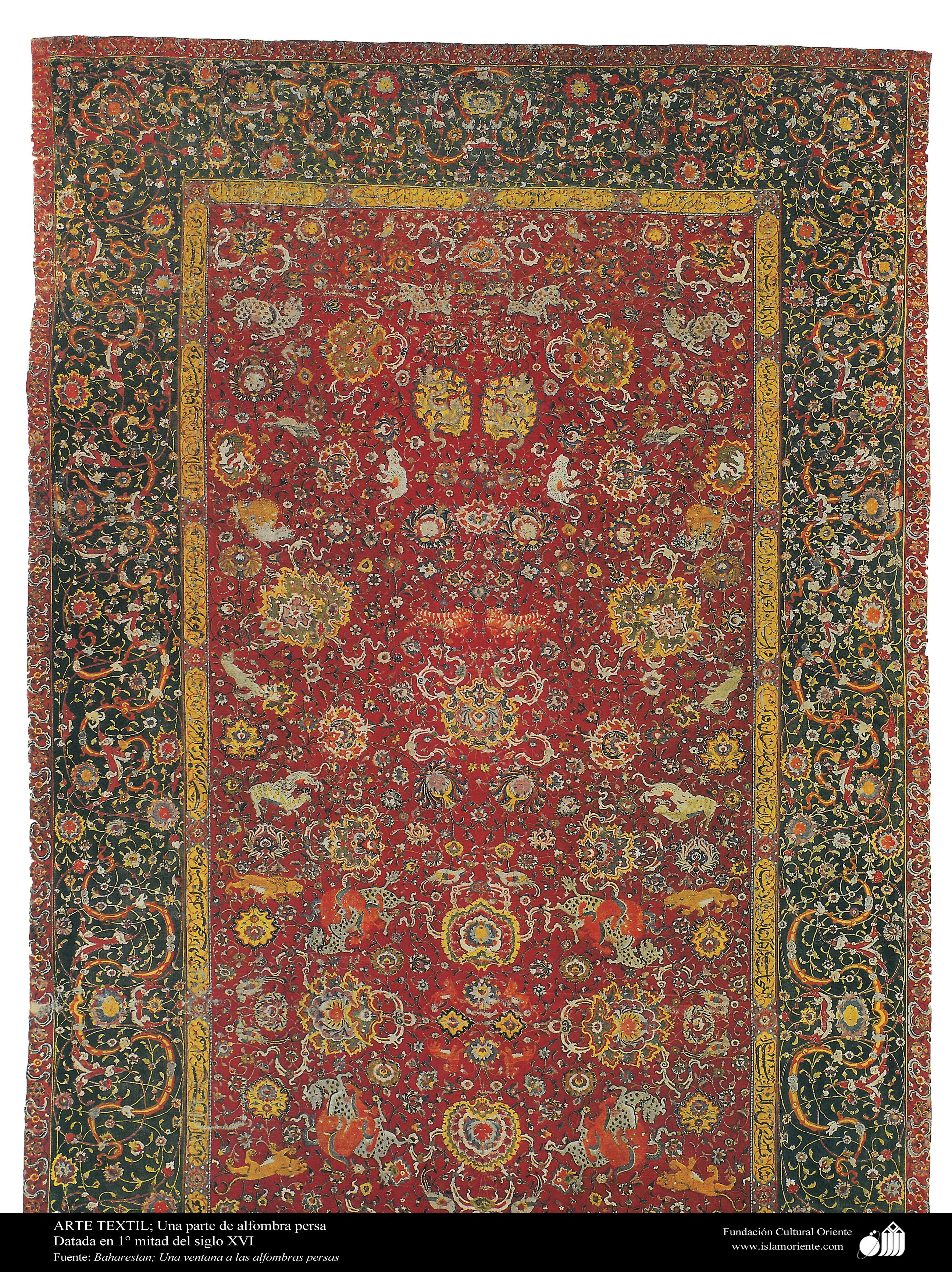 Alfombra persa una parte datada en 1 mitad del siglo for Alfombraspersas