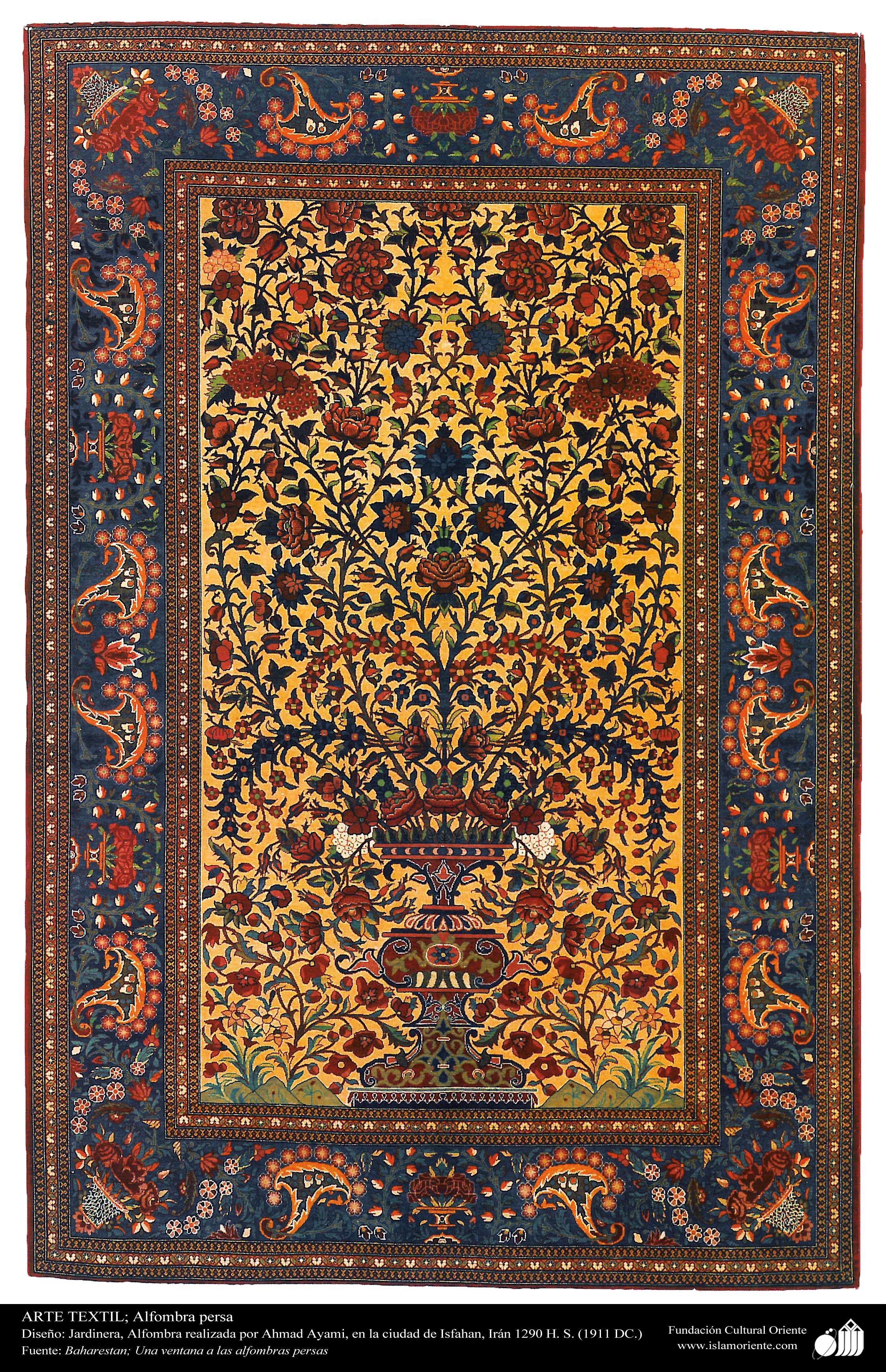 alfombra persa realizada en la ciudad de isfahan ir n en