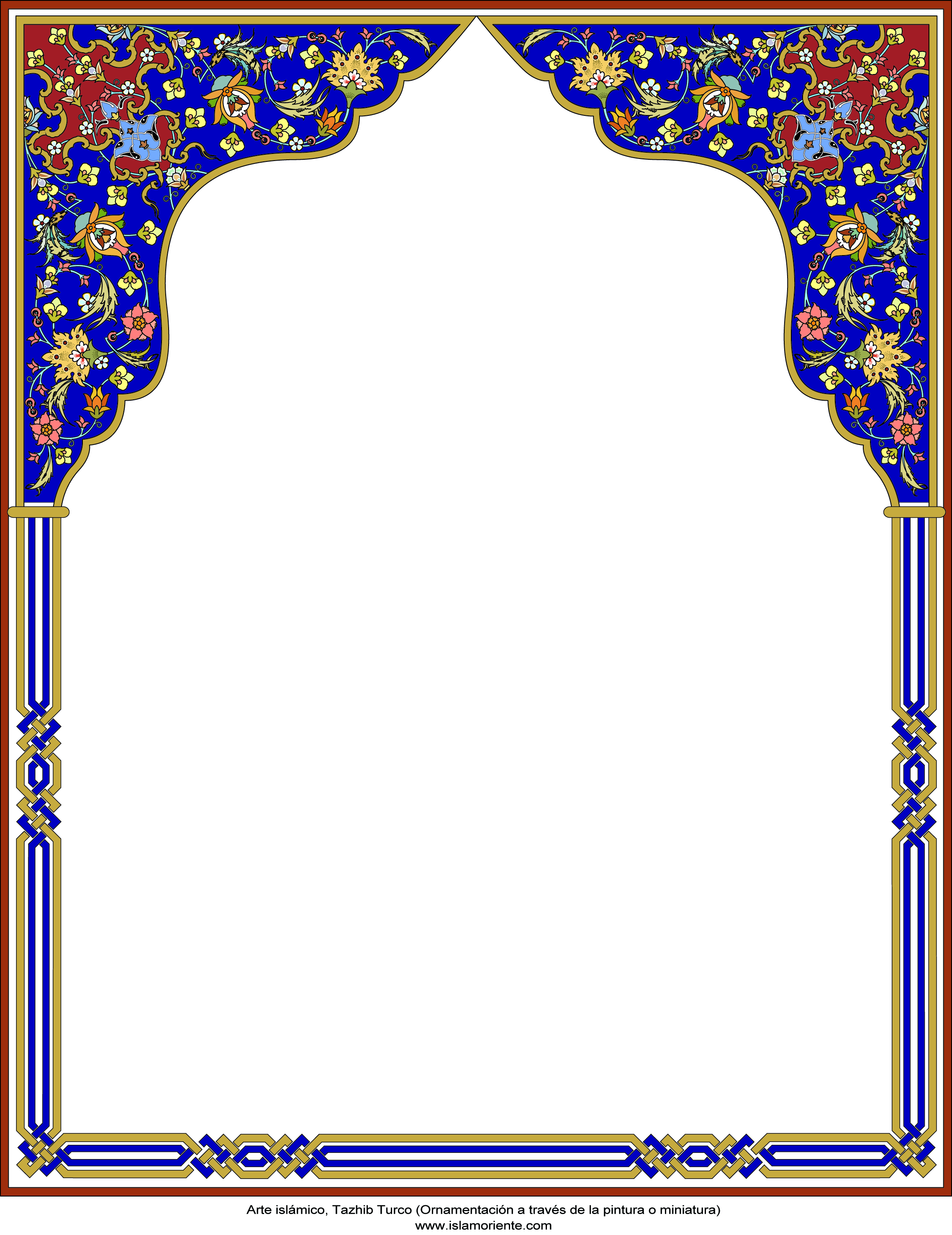 Islamic design frame the image kid has it for Frame designs