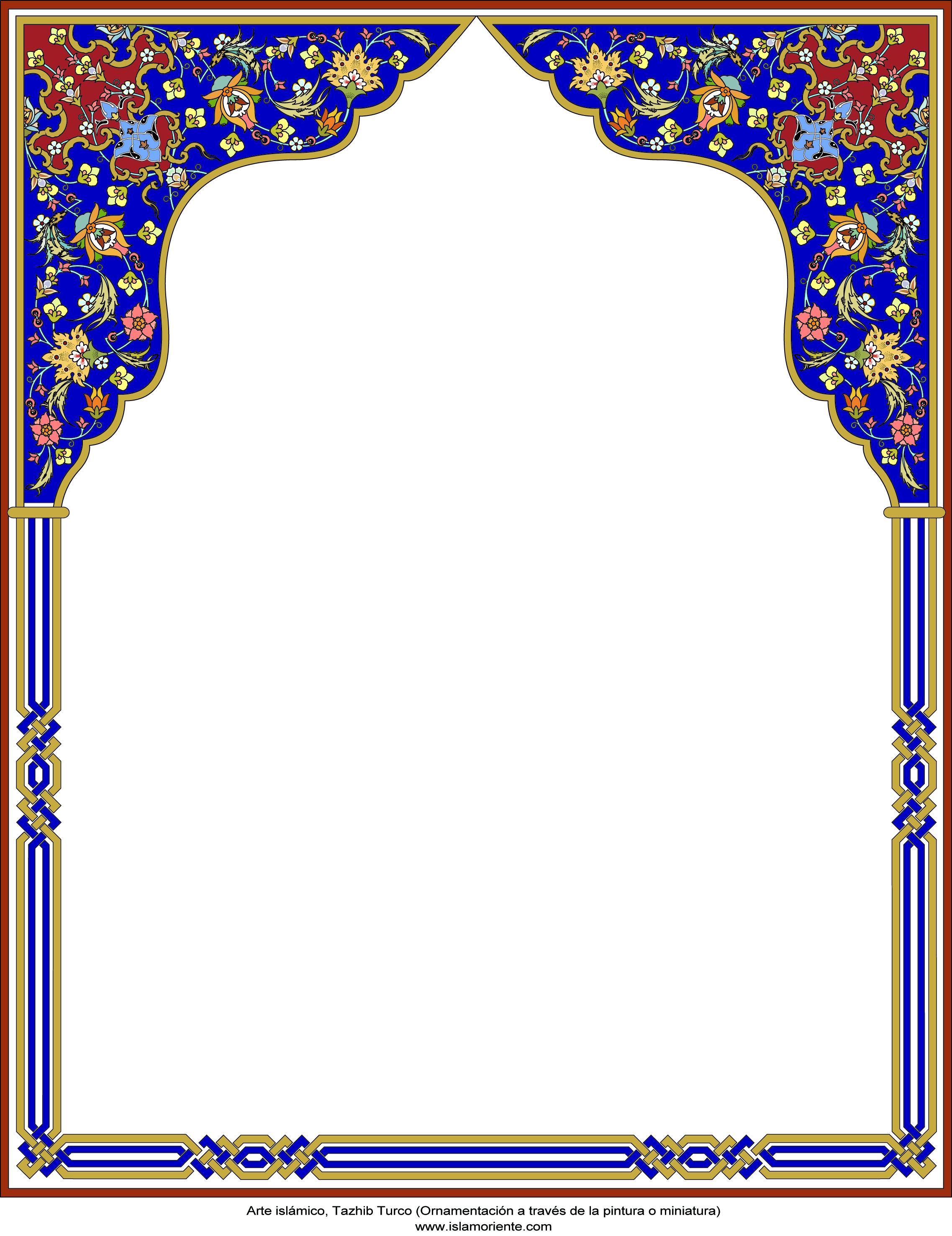 Islamic Art - Persian Tazhib - frame - 10 Gallery of Islamic Art and
