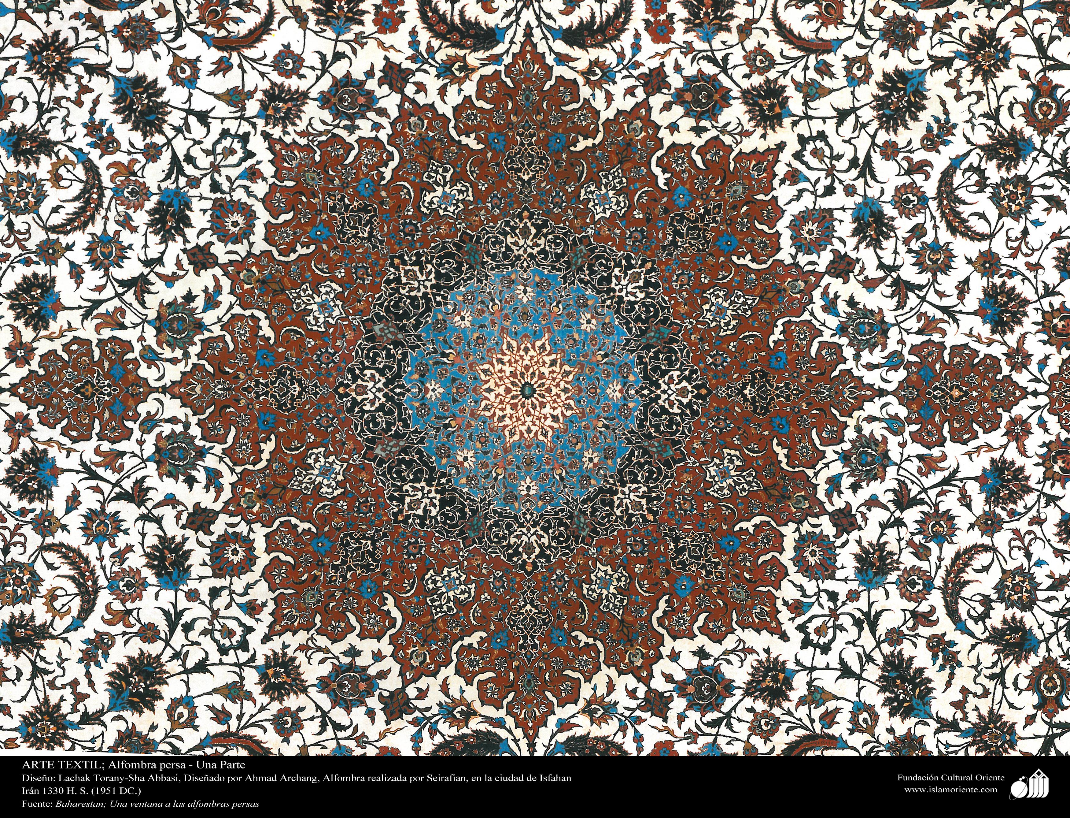 Una parte de alfombra persa realizada en la ciudad de for Alfombraspersas