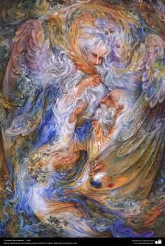 هنر اسلامی - شاهکار مینیاتور فارسی - اثر استاد محمود فرشچیان - تنفس از طریق - 2004