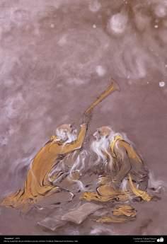 """Astonishment"" 1975 - Masterpieces of Persian miniature - Artist: M. Farshchian"