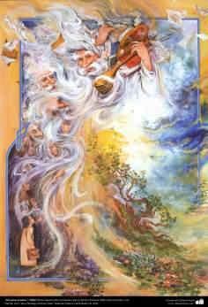 """""""Vom Staub zu Staub"""" 1999 / Meisterstücke der persischen Miniatur; Künstler: Professor Mahmud Farshchian, Iran - Bilder"""
