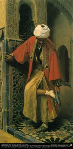 "Painting ""Egyptian man"" - Oil on canvas, 1897 - Artist: Kamal-ol-Molk"