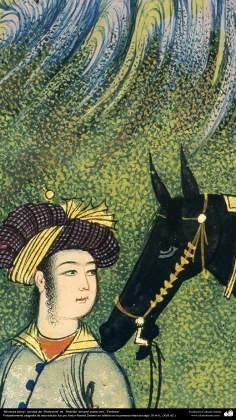 الفن الإسلامیه - من روائع منمنمات الفارسیة - مأخوذة من كتاب الشاهنامة، كتبها الشاعر الفردوسي - 9