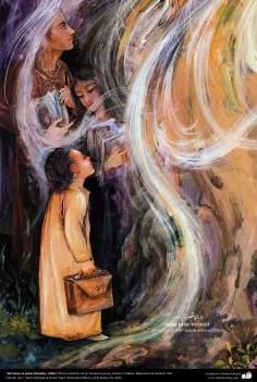 """""""Del polvo al polvo (Detalle) .1999  Obras maestras de la miniatura persa; Artista Profesor Mahmud Farshchian, Irán"""