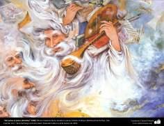 """""""Del polvo al polvo (Detalle)"""" 1999 Obras maestras de la miniatura persa; Artista Profesor Mahmud Farshchian"""