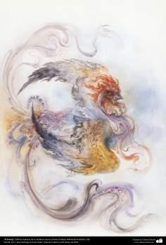 El Simurg-  Obras maestras de la miniatura persa- Artista Profesor Mahmud Farshchian- 2