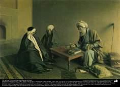 """El adivino"" (1892); Pintura de Kamal ol-Molk"
