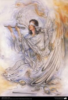 """""""Espero menos"""", 2004, Obras maestras de la miniatura persa; M. Farshchian"""