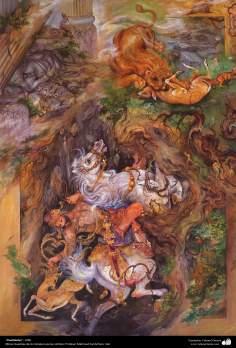 """Finalidades"", 1990, Obras maestras de la miniatura persa; por Profesor Mahmud Farshchian"