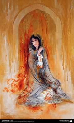"""""""Lágrimas doradas"""" - Obras maestras de la miniatura persa; Artista Profesor Mahmud Farshchian"""