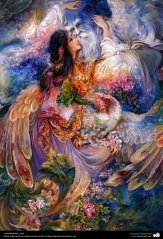 """""""La iluminación"""", 1994, Obras maestras de la miniatura persa; M. Farshchian"""