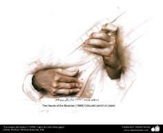 """""""Las manos del músico"""" (1998)- pintura por Morteza Katoozian"""