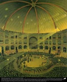 """""""Parlamento del gobierno"""" (1900) - Pintura de Kamal ol-Molk"""