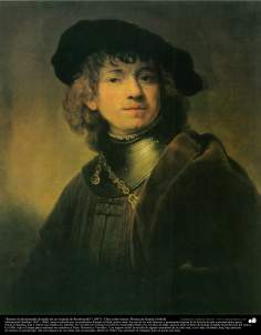 Portrait of Rembrandt (Study of an original Rembrandt (1897)) - Oil on canvas - Artist: Kamal ol-Molk (14)