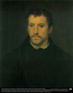 """""""Retrato de joven inglés (estudio de un original de Rubens)"""" (1898) - Óleo sobre lienzo; Pintura de Kamal ol-Molk"""