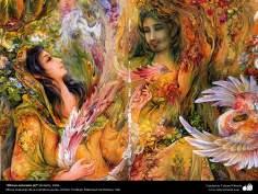 """Ritmos naturales (2)"" (detalle), 1996, Obras maestras de la miniatura persa; M. Farshchian"