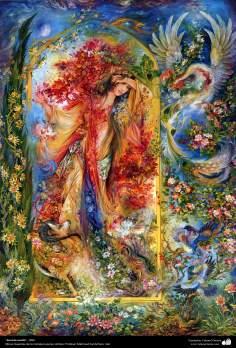 """""""Secreto oculto"""", 1996, Obras maestras de la miniatura persa; M. Farshchian"""