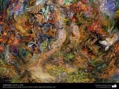 イスラム美術(マフムード・ファルシチアン画家によるミニチュア傑作 - 「昇華」- 2006