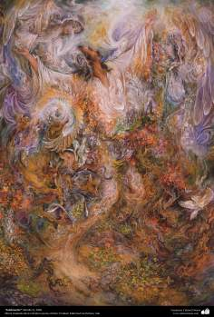 """Sublimation"" (detail 2) 2006 - Masterpieces of Persian miniature - By professor  M. Farshchian"