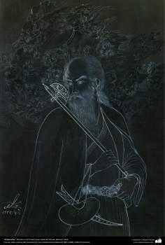 الفن الإسلامي - تحفة المنمنمات الفارسية - أستاذ حسين بهزاد - درويش - 102