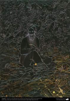الفن الإسلامي - تحفة المنمنمات الفارسية - أستاذ حسين بهزاد - فردوسي - 105