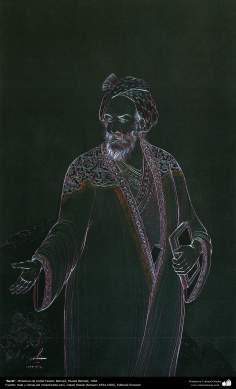 الفن الإسلامي - تحفة المنمنمات الفارسية - أستاذ حسين بهزاد - سعدي - 108