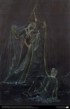 الفن الإسلامي - تحفة المنمنمات الفارسية - أستاذ حسين بهزاد - مخبأ سري - 111