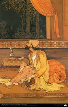 الفن الإسلامي - تحفة المنمنمات الفارسية - أستاذ حسين بهزاد - خیام - 116