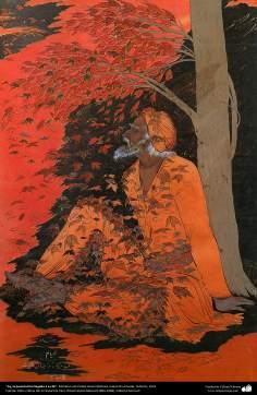Ay, la juventud ha llegado a su fin, Miniatura de Ostad Hosein Behzad, Colección privada, Teherán, 1951 -125