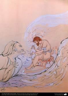 الفن الإسلامي - تحفة المنمنمات الفارسية - أستاذ حسين بهزاد - أنا الخالق ورشة عمل الفخاري - 128