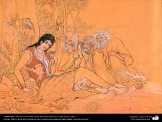 Seducción, Miniatura de Ostad Hosein Behzad, Colección privada, EEUU, 1953 -129