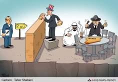 EE.UU,Arabia Saudita,Israel contra Siria (Caricatura)-18
