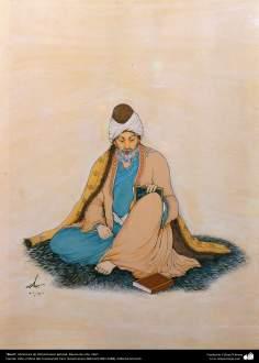 Rumi, Miniatura de Ostad Hosein Behzad, Museo de arte, 1957 -140