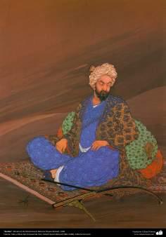 Rudaki, Miniatura de Ostad Hosein Behzad, Museo Behzad, 1958 -142
