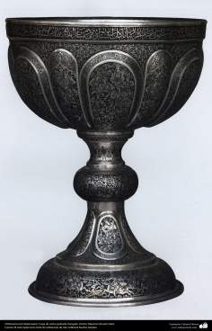 الفن الإيراني - خرط - تنقش كأس النحاس - تأثير استاذ حسين دلو - 153