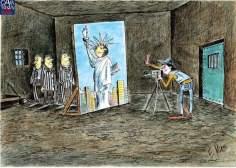 کارٹون - جیل میں آزادی کا خواب