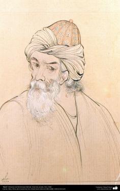 Rumi, Miniatura de Ostad Hosein Behzad, Colección privada, Paris, 1964 -155