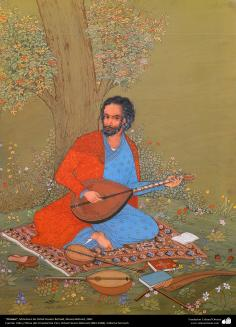 """Ormavi"" - Miniatura de Ostad Hossein Behzad, Museu Behzad, 1961 - 159"