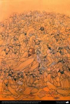 Los que dominan el conocimiento y el arte, Miniatura de Ostad Hosein Behzad, Museo Behzad, 1965 - 174