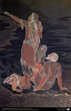 Islamic Art, Masterpieces of Persian Miniature, Artist: Ostad Hosein Behzad, The Poverty of Oil, (The Black Gold) – 178