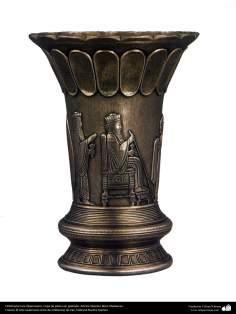 Iranian art (Qalamzani), The carved silver cup, Artist: Master Reza Ghaderran -182-1