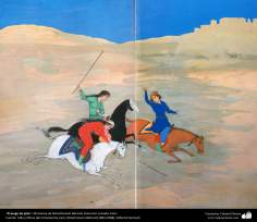 Islamic Art, Masterpieces of Persian Miniature, Artist: Ostad Hosein Behzad, The Polo Game, Private collection, Paris - 182