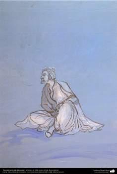 Escuchar con el oído del corazón, Miniatura de Ostad Hosein Behzad, Museo Behzad -185