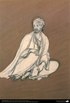 Islamic Art, Masterpieces of Persian Miniature, Artist: Ostad Hosein Behzad, The poet (sketch), Behzad Museum -190