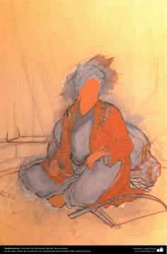 Rudaki (boceto), Miniatura de Ostad Hosein Behzad, Museo Behzad  -192
