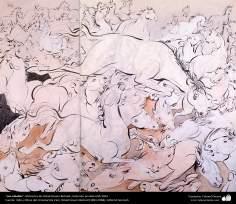 Islamic Art, Masterpieces of Persian Miniature, Artist: Ostad Hosein Behzad, Horses, Private collection, USA, 1953 -200