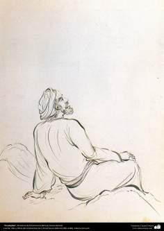 """Arte islamica-Il capolavoro della miniatura persiana,""""Perplessità"""",Maestro Hosein Behzad-202"""